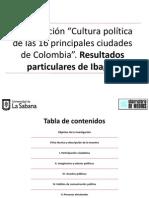 Resultados Cultura Política. Capítulo Ibagué
