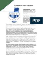 Historia de La Serie a Del Futbol Ecuatoriano