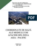 Coordonate de Baze Ale Mediului de Afaceri Din ASIA-PACIFIC