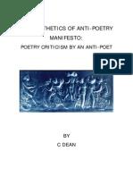 THE AESTHETICS OF ANTI-POETRY MANIFESTO