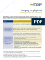 Designing Out Plagiarism