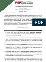EDITAL - MPSP - OFICIAL PROMOTORIA 1 TAUBATÉ