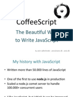 CoffeeScript - The Beautiful Way to Write Javascript