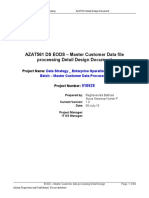 EODS Master Customer Data Processing ETL Design Specification v1.1