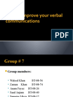 How to Improve Your Verbal Communication Skills