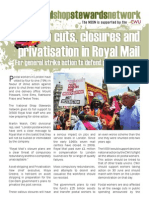No to cuts, closures and privatisation in Royal Mail! NSSN campaign leaflet