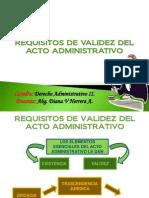 Requisitos de Validez del Acto Administrativo