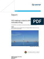 Final Report HSE Challenges Offshore Renewable Energy