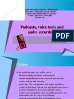 Podcasts,voice tools and audio recorders