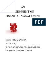 Niraj Finance Assignment