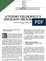 ATEÍSMO FILOSÓFICO Y RELIGIÓN PROGRESISTA