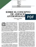 Sobre Elconcepto de Espacio Antropologico