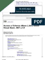 Acceso a Ficheros dBase (.Dbf) Desde Visual Basic