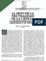 El Mito de La Neutral Dad de La Ciencia