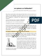¡ Asi que quieres un Rottweiler ! - Spanish
