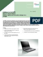 Fujitsu Siemens Computers Multimedia Notebook Data Sheet 1464