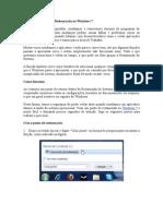 Criando um Ponto de Restauração no Windows 7