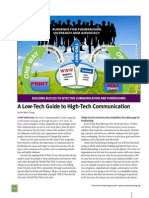 Low Tech Guide to High Tech Communication