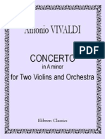 II -Concerto in a Minor for Two Violins and Orch