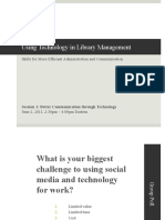 Using Technology in Library Management--Session 1