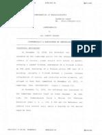 Memorandum on Sentencing