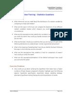 Basic Statistics - Questions