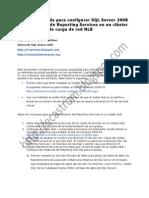 Configuracion Reporting Services NLB