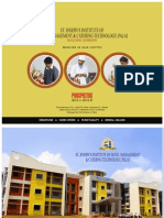 St. Joseph's Institute of Hotel Managment & Catering Technology, Palai Brochure 2011
