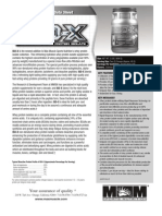 ISO-X  (Advanced Whey Protein Isolate) Product Data Sheet