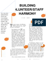 Building Volunteer/Staff Harmony