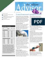 The Alliant Advisor, Spring 2011 Newsletter