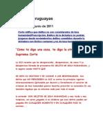 Noticias uruguayas 1 junio 2011