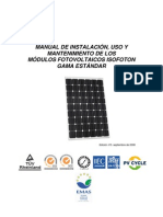Manual Instalacion Modulos Fotovoltaicos Esp