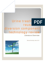 Urine treatment, reuse and diversion component technology review. Mariska Ronteltap, March 2011