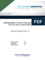 Aprendiendo Con Actualidad Argentina - Episodio 22