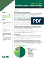 2011 CBRE EMEA Messanine Lending Market H1