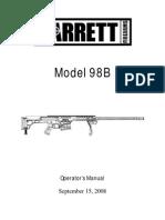 13611065 Barrett 98B Operators Manual