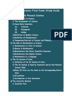 Final Study Guide - Spring 2011
