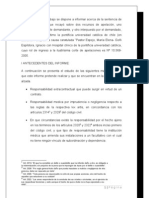 informe en derecho daño moral por responsabilidad medica
