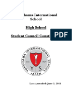 YIS High School Student Council Constitution