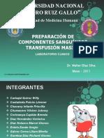 Preparacion de Componentes Sanguineos Transfusion Masiva