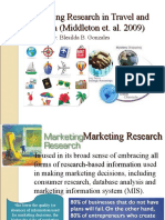 Marketing Research in Travel & Tourism