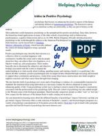 Strides in Positive Psychology