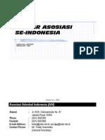 Daftar Asosiasi Indonesia
