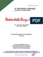 Inplant Training Report-Coke2009