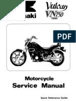 Kawasaki Vulcan VN750A Manual&Parts