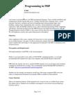 Sylabus Pragramming in PHP