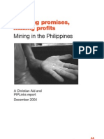 Breaking Promises, Making Profits. Mining in the Philippines