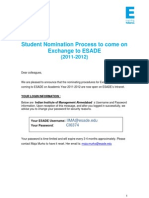 1112 Student Nomination Process for Exchange to ESADE Indian Institute of Management Ahmedabad[1]