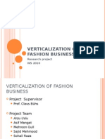 Verticalization of Fashion Business